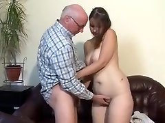 Chubby german girl nailed by older man