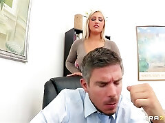 Incredibly HOT bigtit blonde manager Dayna Vandetta fucks employee