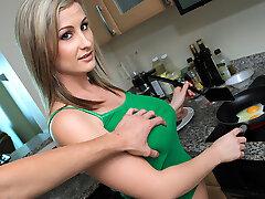 Brittney Bell in Blonde Babe Fucks Over Breakfast - MofosBSides
