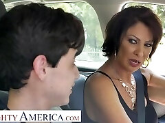 Naughty America Vanessa Videl instructs Juan how to take care of a doll