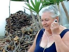BBW italian Grandma Calls Grandpa to drill