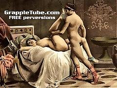 Vintage retro classical hardcore fucking and fellatio hardcore sex perversions