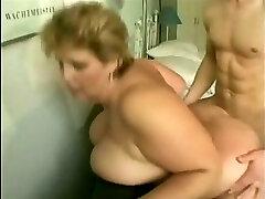 grandmother with big tits fucks young guy