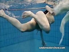 Andrea shows adorable body underwater