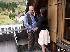 Older farmer had the honor of fucking sugary-sweet looking village whore Lullu Gun