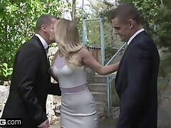 Glamkore - Hot blonde Eurobabe Vinna Reed gets an Anal DP