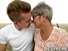 Naughty granny Jessye drilled hard