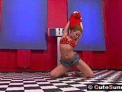 Hot Sunny Home Striptease