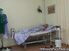 Grandpa fucks hot slutty nurse