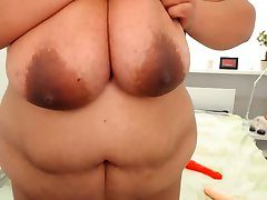 BBW with huge hanger and amazing brown areola