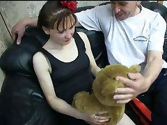 3 Friends fuck young girl- 2