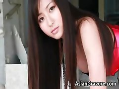 Steamy real asian model posing part1