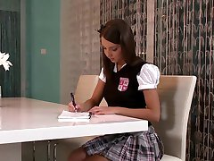 Brunette Student Makes Up For Bad Grade.mp4