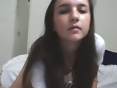 brunette girl with perfect body on webcam
