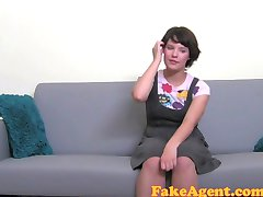 FakeAgent Cute girl takes Huge facial in Casting interview