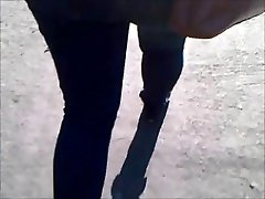 Emo whooty in tight jeans - part 2.