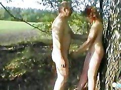 Olya's Outdoor sex tape