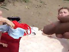 Cum on Girl at Beach