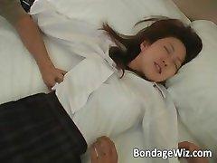 Hot Asian schoolgirl gets her body part5