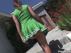 Jynx Maze playing slutty cheerleader