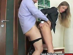 Office action sexy cougar gets fucked by another employee