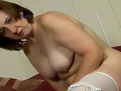 Hairy mom double fun