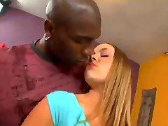 Pretty Blonde Teen Anal with Black man