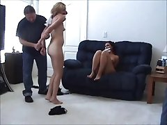 mother and dauther's friend bound play