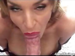 POV Red Lipstick Blowjob and Cum Swallow