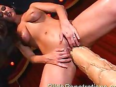 Huge dildo penetrations insert