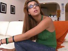 hot brazillian girl in glasses