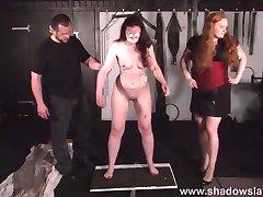 Cruel nipple torments and lesbian bdsm of slave Caroline Pie