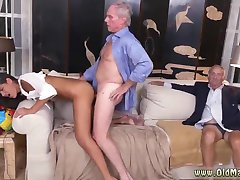 Old man spanks young and old man with huge