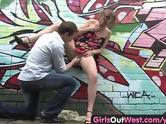 Girls Out West - Hairy Aussie pussy fingered and nailed