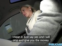 PublicAgent Big tits blonde fucked in car