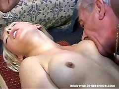 Two old men screwing young hot girls