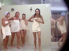 Porkys - Hidden Cam gloryhole shower scene (solo women)
