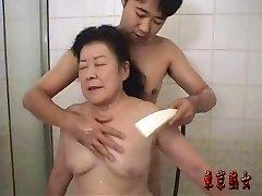 Giapponese nonna godere del sesso