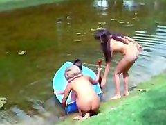 Nudisti Vita sull'Isola