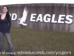 Hot Brunette Naked on Her Real Community College Campus Kirkwood Colelge Cedar Rapids Iowa