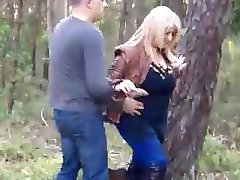 Mature Assfucked in the Woods (Fast Motion)