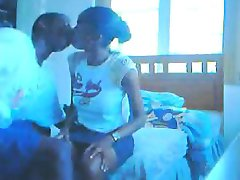 Ebony couple blowjob video that is quick