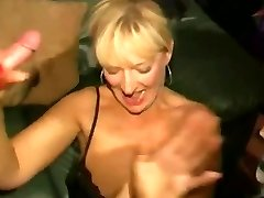 Dirty English slut - Mass Ejaculation soiree 04