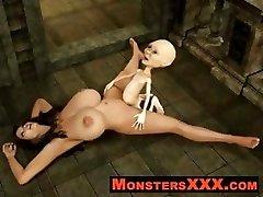 Horríveis Criaturas 3d porra inocente filhotes