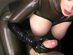 Latex Handjob JOI