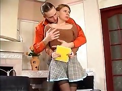 adolescent fille russe baise et de sperme sur ses bas