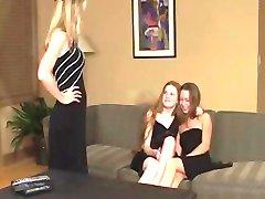 Sweet Lesbian Teenage Girlfriends Caught By Auntie