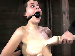 Nipple sucked bitch getting caned