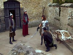 Theodora Ferreri - Fucked by 3 Guys Outdoors (Castle)