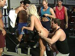 Sassy Blonde Gang Banged in the GYM - Cireman
